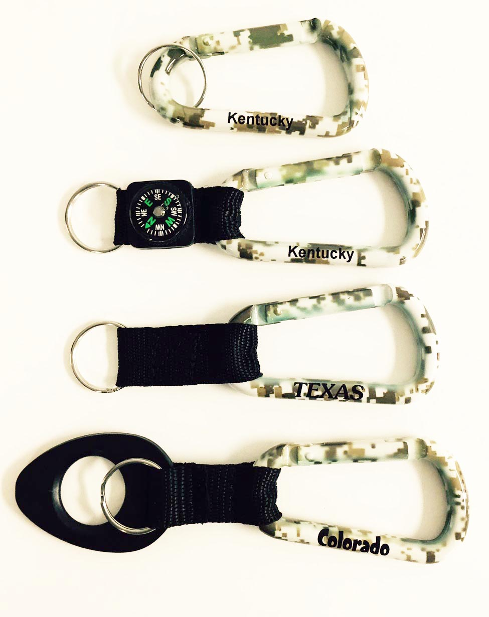 Desert Sand Camouflage Carabiners