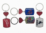 Heart w/Shield Key Tag