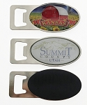 Oval Design Bottle Opener Magnet