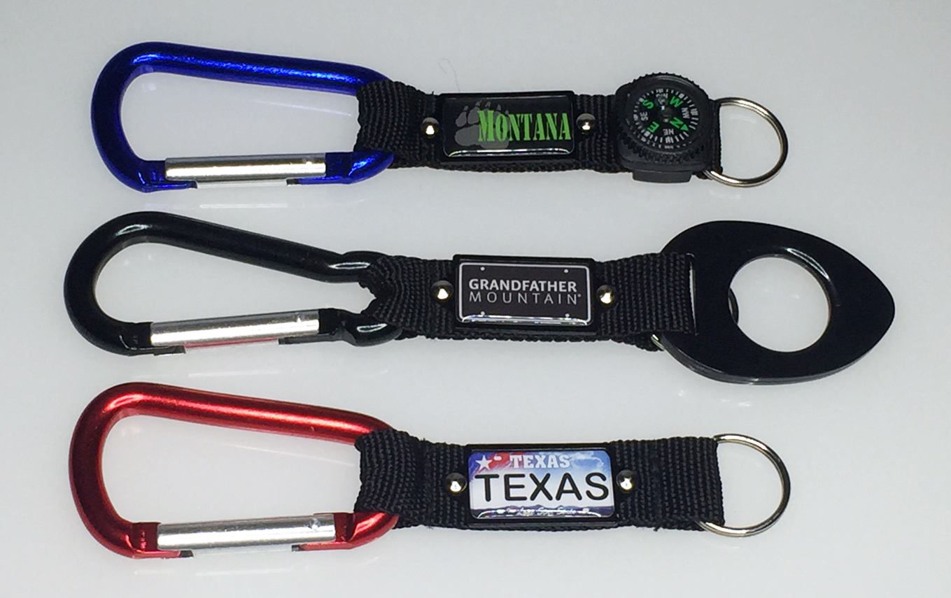 Carabiners w/Aluminum Plate on Straps