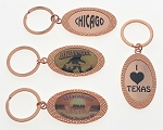 Rose Gold Oval Key Tag