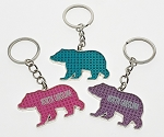 Bling Bear Key Tag