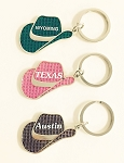 Bling Cowboy Hat Key Tag