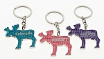 Bling Moose Key Tag
