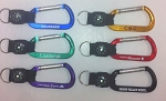 Basic Carabiner w/Split Ring and Compass Strap