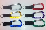 Basic Carabiner w/Split Ring and Black Web Strap