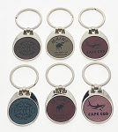 Color Deluxe Key Tag - Oval Circle