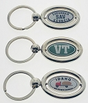 Domestic Spinner Key Tag - Oval Shape