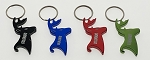 Deer Head Bottle Opener Key Tag