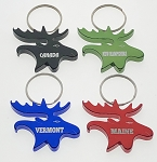 Moose Head Bottle Opener Key Tag