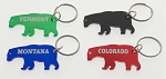 Bear Bottle Opener Key Tag