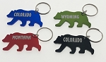 Large Bear Bottle Opener Key Tag