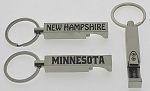 Brushed Silver Bottle Opener Key Tag