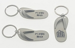 Brushed Silver Flip Flop Key Tag