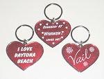 Glitter Heart Key Tag