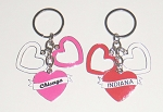 Triple Heart Key Tag