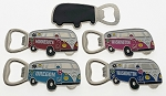 Hippy Van Bottle Opener Magnet