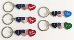 I Love USA Key Tag