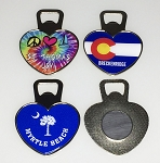 Jumbo Bottle Opener Magnet - Heart