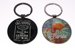 Jumbo Circle Key Tags - Black and/or Silver