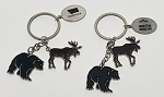 Moose and Bear Charm Key Tag
