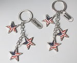 Patriotic Dangling Star Key Tag