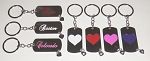 Rectangle Heart w/Dangling Stone Key Tag