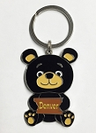Sitting Teddy Bear Key Tag