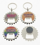Thin Bottle Cap Bottle Opener Key Tag and Magnet