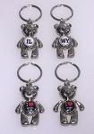 Teddy Bear w/Dangling Arms and Legs Key Tag