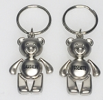 Teddy Bear Key Tag w/Flat Belly