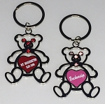 Teddy Bear Key Tag w/Stones