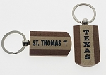 Two-Tone Wood Key Tag