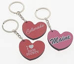 Wooden Heart Key Tag