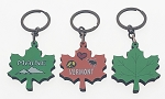 Wooden Leaf Key Tag