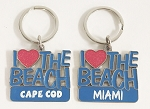 I Love The Beach Key Tag