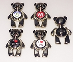 Teddy Bear Magnet w/Dangling Arms and Legs