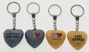 Acrylic Heart Key Tag