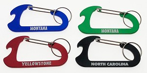 Carabiner w/Bottle Opener & Split Ring