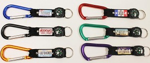 Carabiner w/Plate and Compass Strap