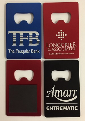 Wallet Size Credit Card Bottle Opener w/Magnet