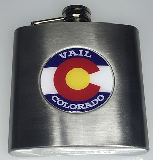 Silver Flask w/Digital Label